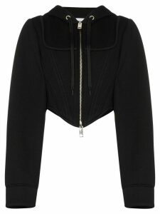 Burberry Grace corset-style hoodie - Black