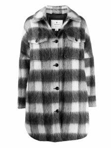 Woolrich check print shirt coat - Grey