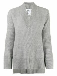 Hope long-sleeve flared jumper - Grey