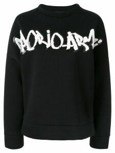 Emporio Armani embellished logo sweatshirt - Black