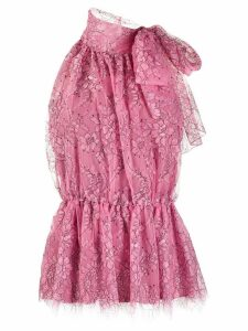 Blumarine floral lace blouse - PINK