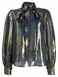 Blumarine animal print blouse - Blue