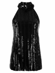 Galvan Stardust sequin top - Black