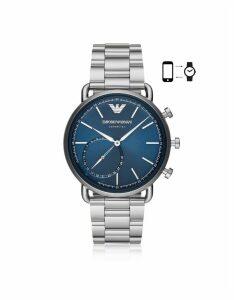 Emporio Armani Designer Women's Watches, Stainless Steel Hybrid Smartwatch