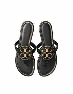 Tory Burch Designer Shoes, Perfect Black Metal Miller Sandals