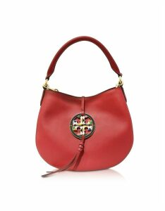 Tory Burch Designer Handbags, Apple Red Miller Mini Hobo Bag