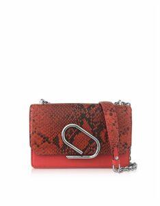 3.1 Phillip Lim Designer Handbags, Animal Printed Leather Alix Chain Clutch