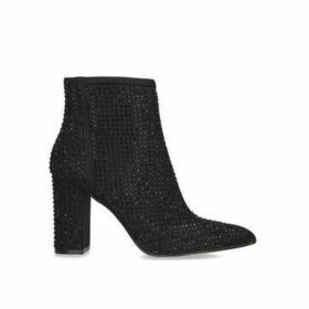 Carvela Shine - Black Embellished Block Heel Ankle Boots