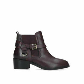Carvela Saddles - Wine Block Heel Ankle Boots