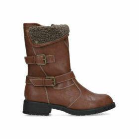 Carvela Comfort Tame - Tan Buckle Detail Calf Boots
