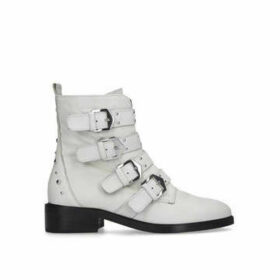 Carvela Scant - White Studded Biker Boots
