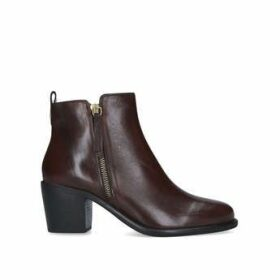 Carvela Secil - Brown Block Heel Ankle Boots