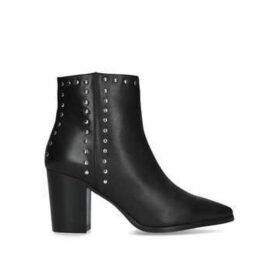Carvela Super - Black Studded Block Heel Ankle Boots