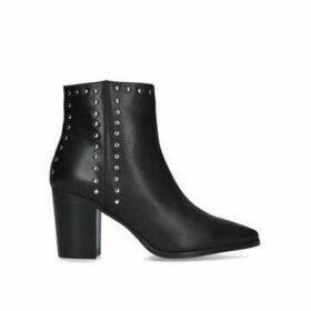 Carvela Super - Black Studded Block Heel Ankle Boots