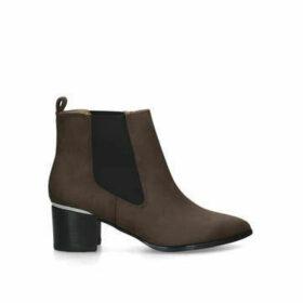 Nine West Taye - Brown Block Heel Ankle Boots