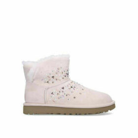 Ugg Classic Galaxy Mini - Pale Pink Studded Suede Short Boots