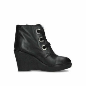 Kurt Geiger London Roland - Black Wedge Heel Ankle Boots