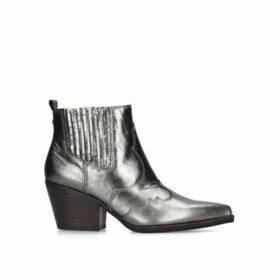 Sam Edelman Winona - Metallic Cuban Heel Western Style Ankle Boots