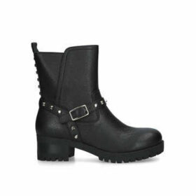 Nine West Renee - Black Studded Biker Style Boots