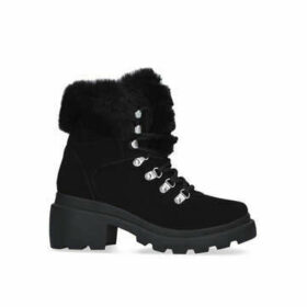 Kendall & Kylie Roan - Black Hiker Style Boots