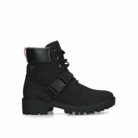 Kendall & Kylie Eos - Black Hiker Style Ankle Boots