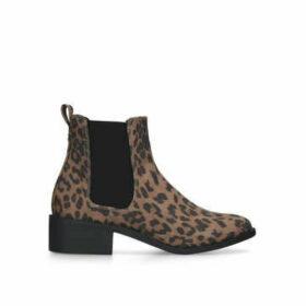 KG Kurt Geiger Taxon - Leopard Print Chelsea Boots