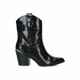 Kg Kurt Geiger Tizzy - Black Croc Print Western Boots