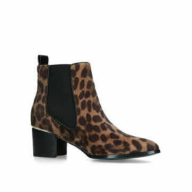 Nine West Taye - Leopard Print Block Heel Ankle Boots
