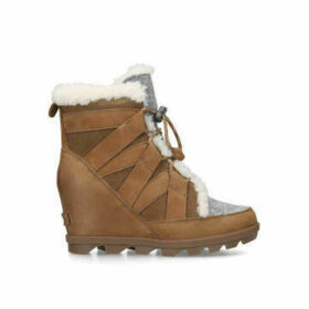Sorel Joan Of Artic Wedge - Brown Wedge Heel Ankle Boots