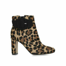 Nine West Aora - Leopard Print Block Heel Ankle Boots