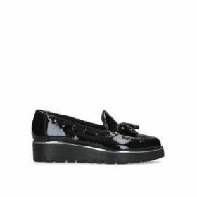 Carvela Comfort Casper - Black Patent Chunky Loafers