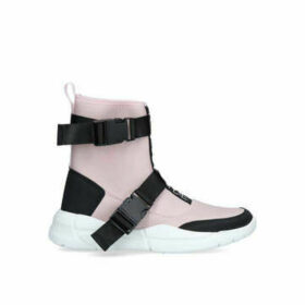 Kendall & Kylie Nemo - Pink And Black High Top Trainers