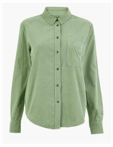 M&S Collection Pure Cotton Corduroy Shirt