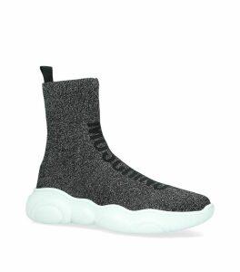 Glitter High-Top Sneakers
