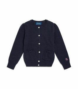 Front Pocket Wool Cardigan