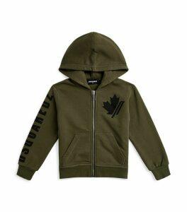 Maple Leaf Logo Zip-Up Hoodie