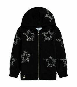 Star-Embellished Zip-Up Hoodie