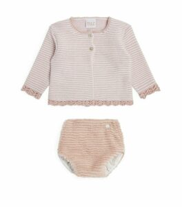 Stripe Cardigan and Bloomers