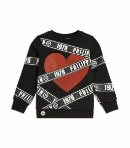Logo Tape Heart Sweatshirt