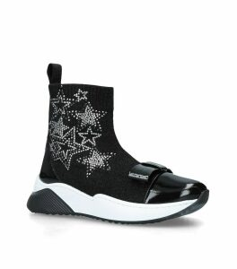 Diamanté Star Sock Sneakers