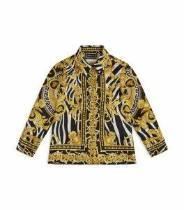 Silk Baroque Print Shirt