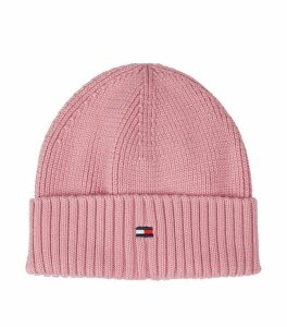 Ribbed Flag Beanie Hat