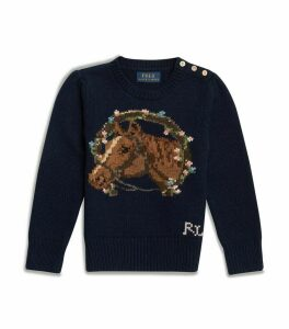 Floral Horse Sweater