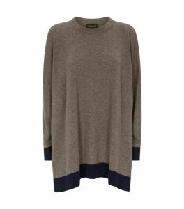 Cashmere Contrasting Trim Sweater