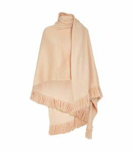 Cashmere Fringed Blanket Cardigan