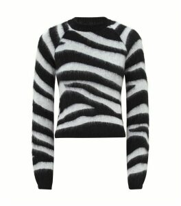 Mohair Zebra Print Sweater