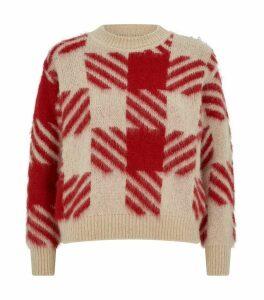 Check Jacquard Sweater