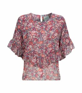 Digna Floral Ruffle Top