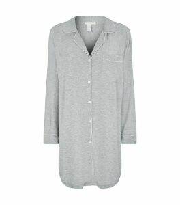 Piped Night Shirt