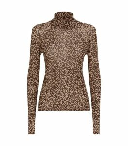 Madi Animal Print Long-Sleeved Top